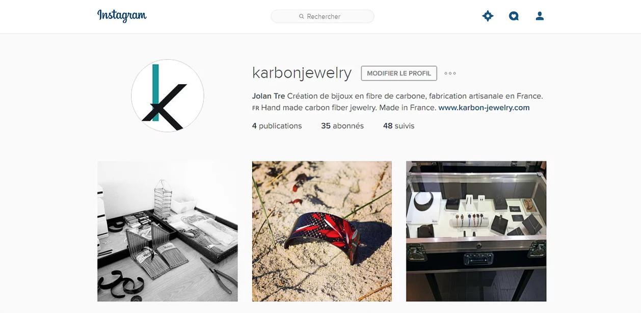 Lancement de Karbòn sur Instagram