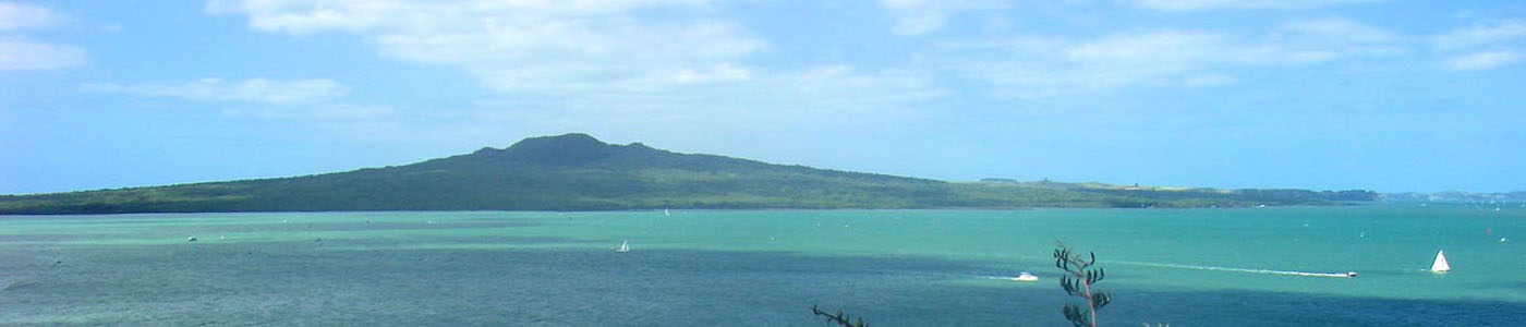 Rangitoto seen from North Head, Auckland